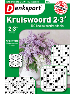 Kruiswoord 2-3* 100 raadsels - Editie 121