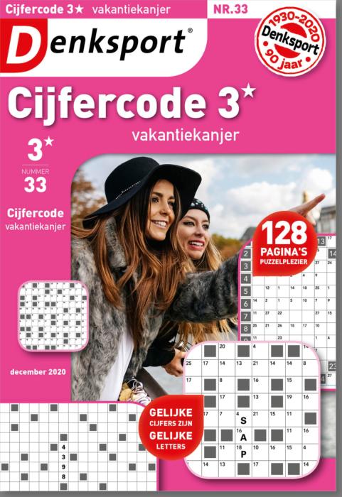 Afbeelding van Cijfercode 3* vakantiekanjer - Editie 33