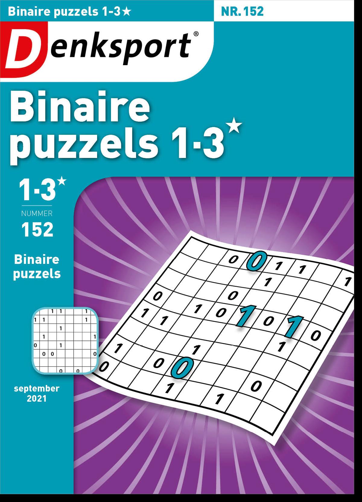 Afbeelding van Binaire puzzels 1-3* - Editie 152