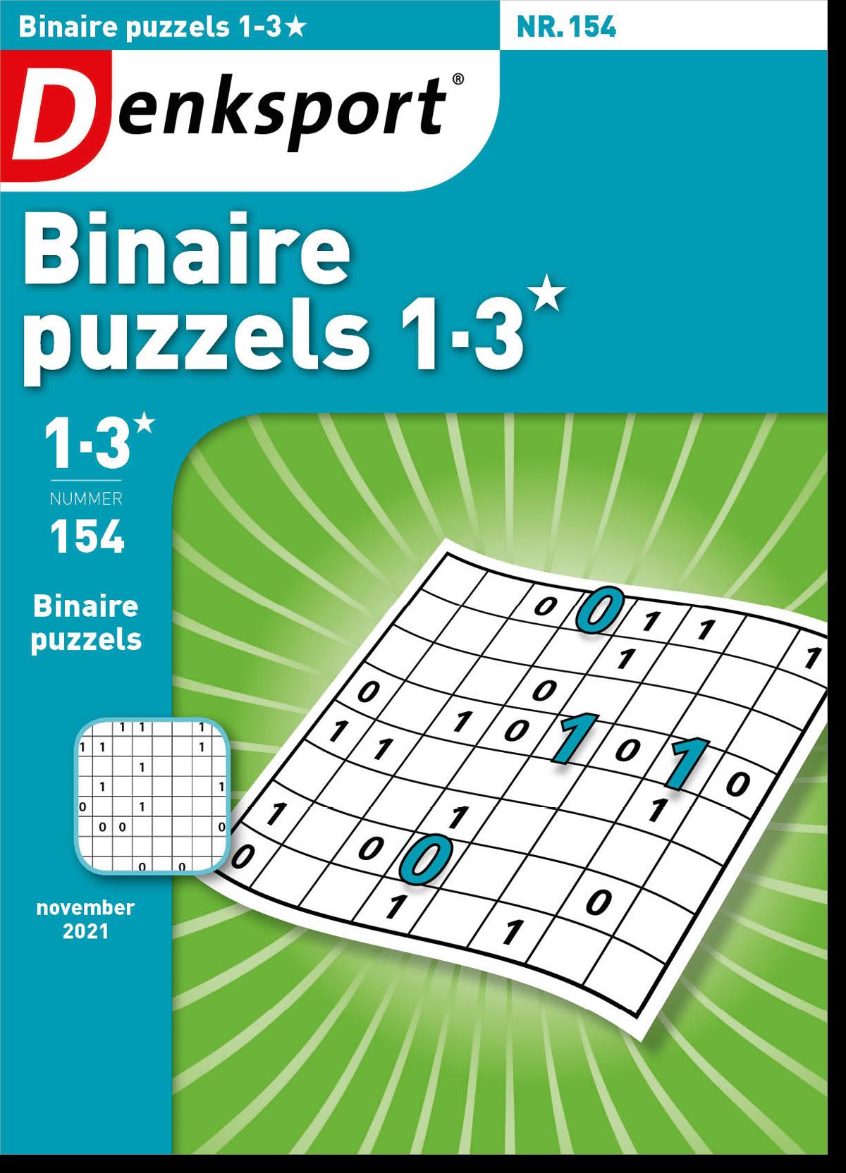 Afbeelding van Binaire puzzels 1-3* - Editie 154