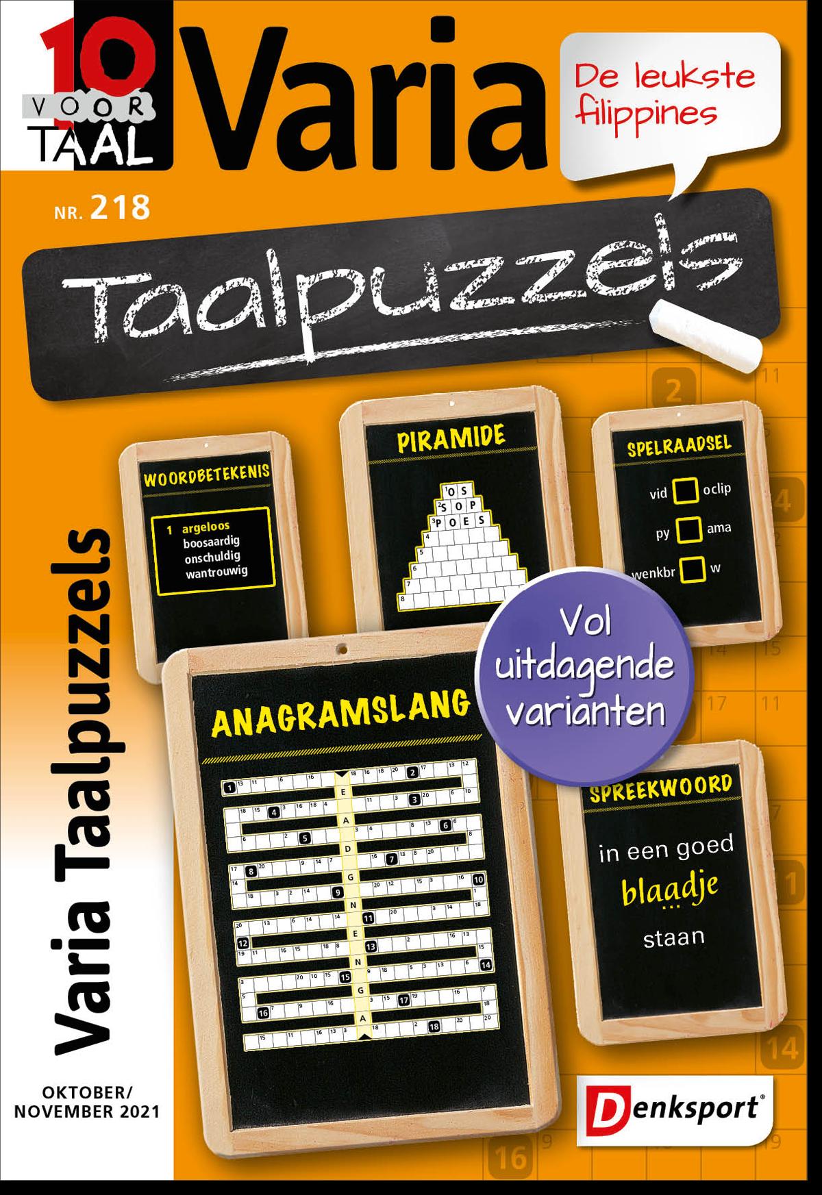 Afbeelding van 10 voor Taal - Varia taalpuzzels - Editie 218